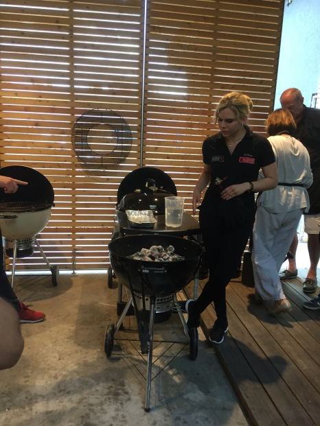 Grillmeisterin unseres Abends